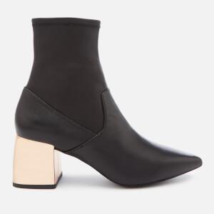 Senso Women's Skyler I Leather Stretch Heeled Boots - Ebony