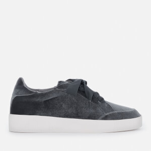 Senso Women's Austin Velvet Low Top Trainers - Graphite