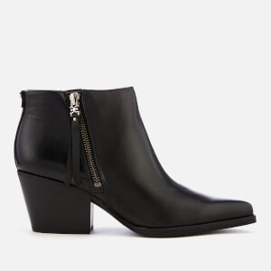 Sam Edelman Women's Walden Modena Leather Heeled Ankle Boots - Black