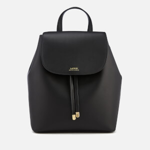 Lauren Ralph Lauren Women's Dryden Flap Medium Backpack - Black/Crimson