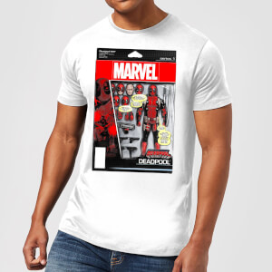 Marvel Deadpool Action Figure Herren T-Shirt - Weiß