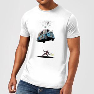 Marvel Deadpool Ice Cream T-shirt - Wit