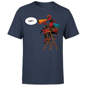 Marvel Deadpool Director Cut Men's T-Shirt - Navy