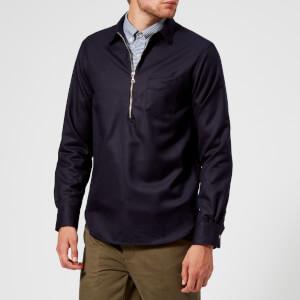 Officine Générale Men's Paul Flannel Overshirt - Navy