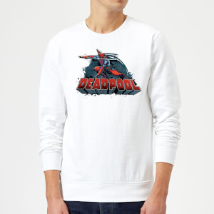 Marvel Deadpool Sword Logo Sweatshirt - White