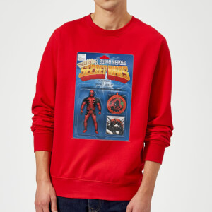 Marvel Deadpool Secret Wars Action Figure Sweatshirt - Red