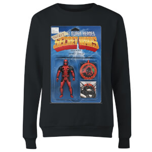 Marvel Deadpool Secret Wars Action Figure Women's Sweatshirt - Black