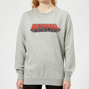 Sweat Femme Logo Deadpool Marvel - Gris