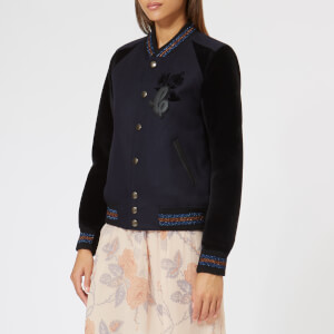 Coach 1941 Women's Varsity Jacket - Navy: Image 1