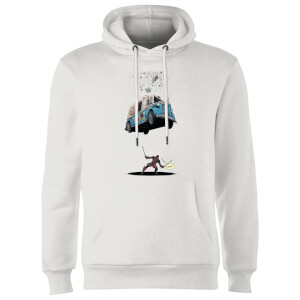 Sweat à Capuche Homme Deadpool Glace Marvel - Blanc