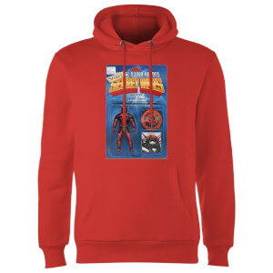 Marvel Deadpool Secret Wars Action Figure Hoodie - Rot