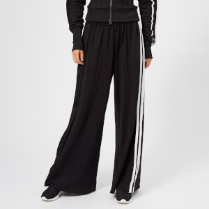 Y-3 Women's 3 Stripe Selvedge Matte Track Pants - Black/Core White