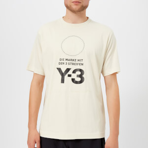 Y-3 Men's Stacked Logo Short Sleeve T-Shirt - Champagne/Black