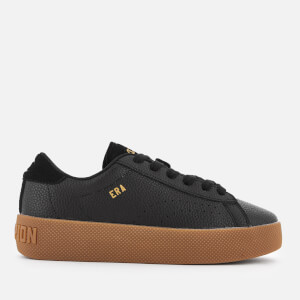 Champion Women's Era Leather Trainers - Black/Gum: Image 1