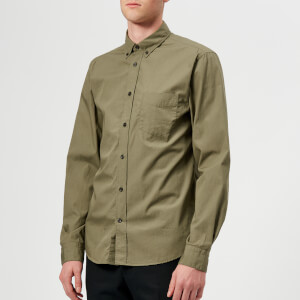 Acne Studios Men's Isherwood Soft Pop Shirt - Hunter Green