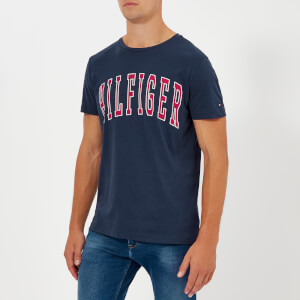 Tommy Hilfiger Men's College Logo T-Shirt - Black Iris
