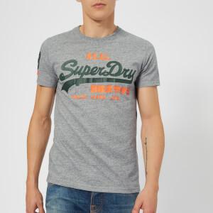 Superdry Men's Vintage Logo Duo T-Shirt - Grey Snowy