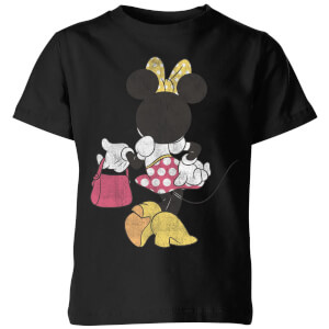 T-Shirt Enfant Disney Minnie Mouse Pose de Dos - Noir
