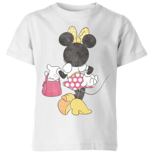 Disney Minnie Mouse Back Pose Kids' T-Shirt - White