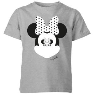 Disney Minnie Mouse Spiegel Illusie Kinder T-Shirt - Grijs