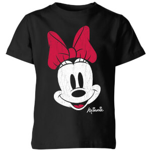 Camiseta Disney Mickey Mouse Minnie Cara - Niño - Negro