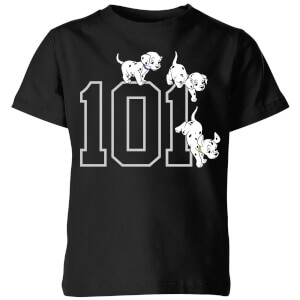 Disney 101 Dalmatians 101 Doggies Kids' T-Shirt - Black