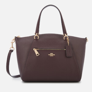 Coach Women's Polished Leather Prairie Satchel - Oxblood
