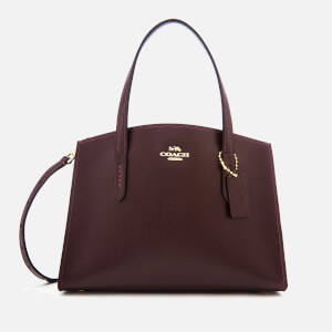 Coach Women's Crossgrain Patent Leather Charlie 28 Carryall Bag - Oxblood