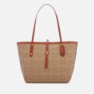 260984370 Coach Women's Coated Canvas Signature Market Tote Bag - Tan Rust