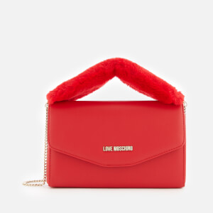 Love Moschino Women's Fur Handle Bag - Red