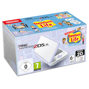 New Nintendo 2DS XL White and Lavender + Tomodachi Life