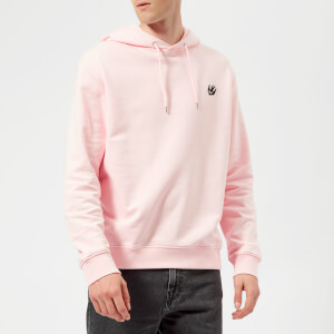 McQ Alexander McQueen Men's Swallow Badge Hoodie - Post It Pink