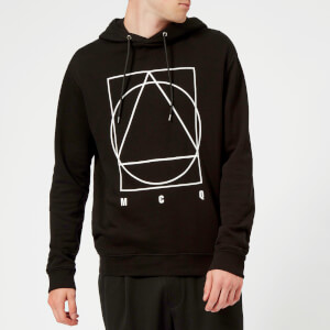 McQ Alexander McQueen Men's Curtis Band Icon Hoodie - Darkest Black