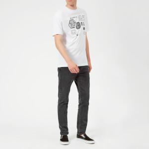 McQ Alexander McQueen Men's Dropped Shoulder McQ Sponsorship T-Shirt - Optic White: Image 3