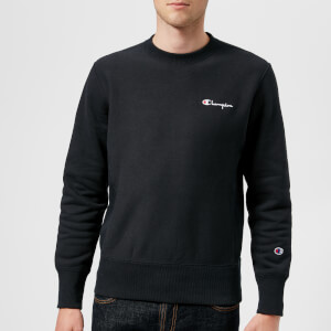 Champion Men's Script Logo Sweatshirt - Blue