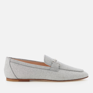 Tod's Women's Glitter Driving Shoes - Grey