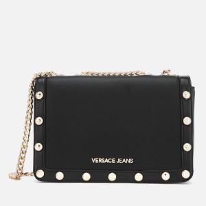 Versace Jeans Women's Logo Chain Handle Cross Body Bag - Black