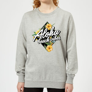 Aloha Beach Vibes Women's Sweatshirt - Grey