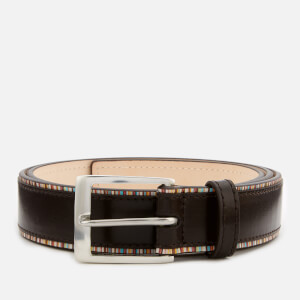 Paul Smith Men's Stripe Edge Belt - Brown