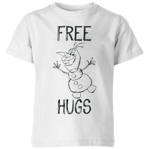 Disney Frozen Olaf Free Hugs Kids' T-Shirt - White