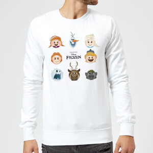 Frozen Emoji Heads Sweatshirt - White