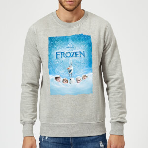 Disney Frozen Snow Poster Sweatshirt - Grey