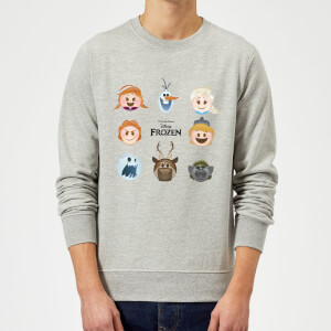 Disney Frozen Emoji Heads Sweatshirt - Grey