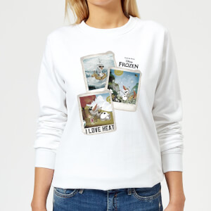 Disney Frozen Olaf Polaroid Women's Sweatshirt - White