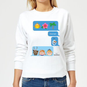Disney Frozen I Love Heat Emoji Women's Sweatshirt - White