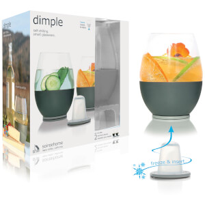 Soiree Dimple Stemless Set of 2