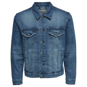Only & Sons Men's Coin Denim Jacket - Blue Denim