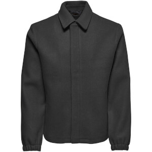 Only & Sons Men's Shawn Wool Jacket - Dark Grey Marl