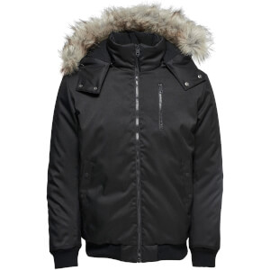 Only & Sons Men's Stanny Padded Bomber Jacket - Black