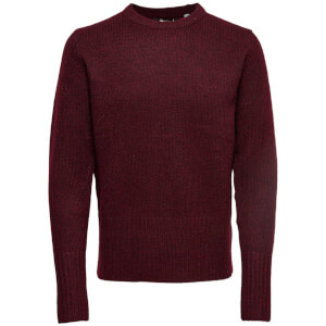 Only & Sons Men's Patrick Premium Jumper - Cabernet